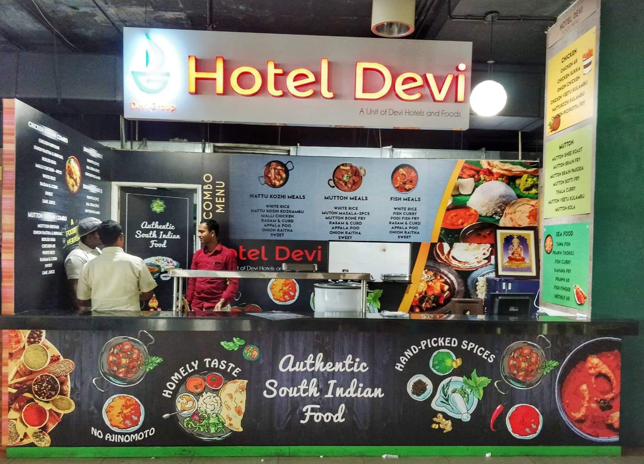 Hotel Devi's outlet in Ramanujan IT City, Taramani, Chennai has many admirers in the IT workers' community